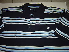 NEW BIG MENS ECKO UNLTD NAVY & LIGHT BLUE S/S POLO SHIRT SIZE 3X