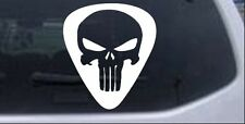 Punisher Skull Guitar Pick Car or Truck Window Laptop Decal Sticker
