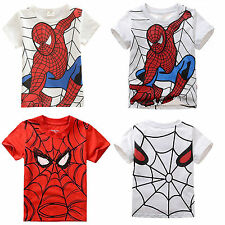 Kids Boys Girls Tee Cartoon Spiderman T Shirts Tops Summer T-shirt Baby Clothing