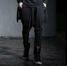 Men's stylish punk loose hip-hop harem pants casual trousers