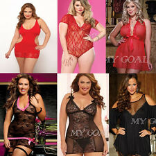 Sexy Women Lace Lingerie Chemise Dress Nightwear Underwear G-String Plus Size