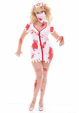 Zombie Nurse Costume Bloodbath Bloody Betty Halloween Cosplay Scary Dress 9855