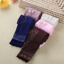 Cute Kids Girls Floral Lace Leggings Toddler Stretchy Beads Tight Long Pants NEW