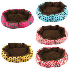 BIG Cute Pet Dog Puppy Cat Soft Flannel Warm Bed House Plush Nest Mat Pad Kennel