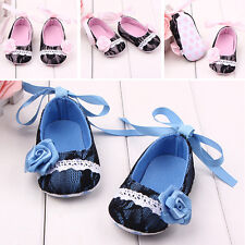Toddler Infant Girl Princess Baby Crib Shoes Kids Prewalker Lace Bow Sneakers AR