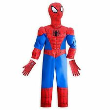 Disney Store Marvel Spiderman Halloween Costume Boy Size 5/6