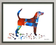 english foxhound Dog Dog All Sizes - Print poster