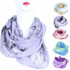 Women Lady Long Chiffon Wrap Scarf Soft Beach Shawl Pashmina Winter Autumn Scarf