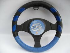 TO FIT A MERCEDES SPRINTER VAN 2008 SWP8 NEON BLUE SPORTS STEERING WHEEL COVER