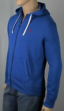 Polo Ralph Lauren Blue Hoodie Full Zip Sweatshirt Red Pony NWT