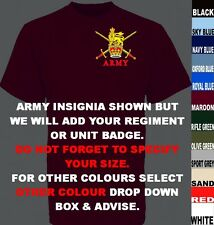 UNITS D TO I UK FOREIGN USA ARMY ROYAL AIR FORCE NAVY REGIMENT T SHIRT XS TO 7XL