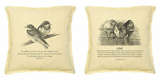Vietsbay's Birds with Bible Printed Khaki Decorative Pillows Cover Case VPLC_02