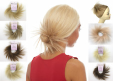 "SPIKY SCRUNCHIE PONYTAIL HOLDER HAIRPIECE EXTENSIONS 3.5"" STRAIGHT HAIR TWIRL"