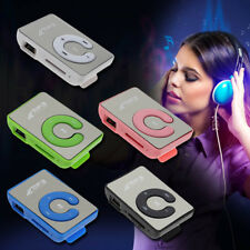 Sports Mini Mirror Clip USB Digital Mp3 Music Player Support 8G Micro SD TF Card