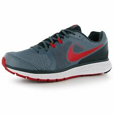 Nike Zoom Windflow Running Shoes Mens Grey/Red Fitness Trainers Sneakers