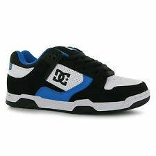 DC Prime Skate Shoes Mens Black/White/Blue Trainers Sneakers