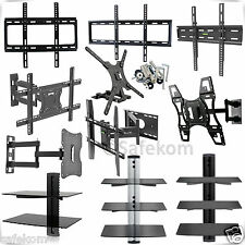 Floating Glass DVD Shelf Shelve TV Wall Mount Bracket Flat & Tilt Swivel LCD LED