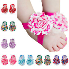 Baby Shoes Toddler Barefoot Foot Flower Sandals for 0-18M EF