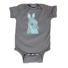 Rabbit Face Bunny Easter Spring Woodland Animal Sketch Infant Baby One Piece