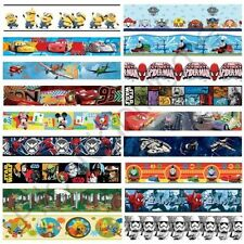 BOYS CHARACTER SELF ADHESIVE WALLPAPER BORDERS STAR WARS, CARS + MORE WALL DECOR