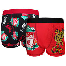 Liverpool Football Club Official Soccer Gift 2 Pack Boys Boxer Shorts