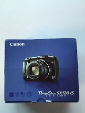 Black Canon Powershot SX120 IS 10MP Camera Mint Condition IOB