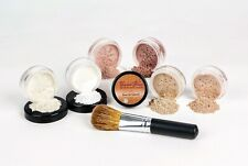 XXL KIT w/ BRUSH Full Size Mineral Makeup Set Bare Skin Powder Foundation Cover