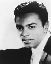 Johnny Mathis B&W Poster or Photo Young Pose