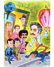 Barney Miller Stunning Artwork Color Poster or Photo TV Classic