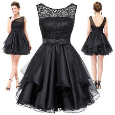 GK V-Back Lace Organza Ball Cocktail Evening Prom Party Dress Bridesmaids Mini