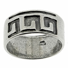 .925 Sterling Silver Oxidized Band Ring