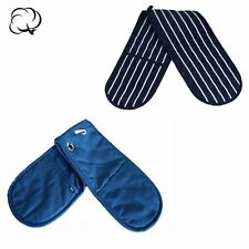 Quality Cotton DOUBLE OVEN GLOVES MITTS HAND PADDED COOKING BAKING KITCHEN LONG