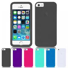 Silicone Flip Full Body Front & Back Gel Case Cover For iPhone 5 / 5S / SE