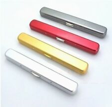 Unisex Ultra Slim Optical Light  Reading Glasses Case Box Plain Aluminium Metal