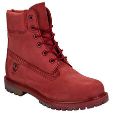Womens Timberland 6 Inch Premium Boots In Red From Get The Label