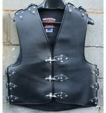 Brand New Heavy Duty 3MM Thick A Grade Buckle Motorcycle Club Leather Vest