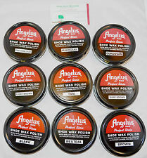 Angelus Shoe Boot Polish Shine Leather Paste Protector Waterproof 3oz can