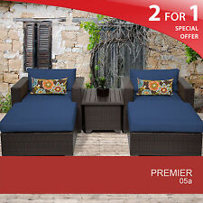 Premier 5 Piece Outdoor Wicker Patio Furniture Set 05a 2 for 1