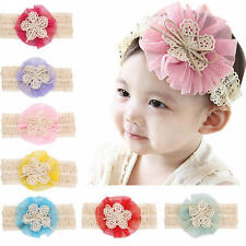 Baby Kids Toddler Girl Flower Lace Hairband Elastic Headband Hair Band Head Band