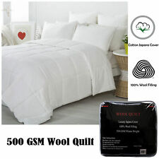 500GSM Wool Winter Quilt Duvet Doona - SINGLE DOUBLE QUEEN KING
