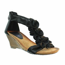 Womens Low Wedge Soft Comfy Footbed Floral Strappy Ladies Sandals Shoe Size 3-8