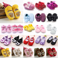 Baby Girls Bowknot Princess Pram Shoes Toddler Soft Sole Crib Prewalker Trainers