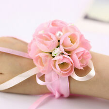 Newly Bridal Wrist Corsage Rose Buds Bridesmaid Flower Bracelet  Wedding Party