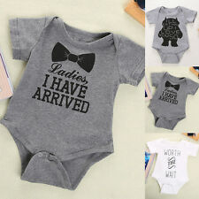 Newborn Kids Baby Infant Boy Girl Bodysuit Romper Jumpsuit Outfit Clothes BKB
