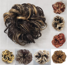 "LACEY LARGE CURLY HAIR SCRUNCHIE PONYTAIL HOLDER HAIRPIECE EXTENSIONS 3.5"" CURL"