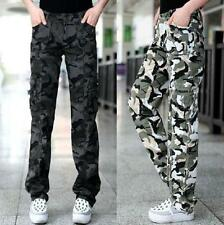 Womens Military Army camo Cargo Pocket Pants Leisure Trousers Outdoor SZ 26-31