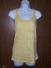 NWOT WOMENS BURNOUT YELLOW RACER BACK RAZORBACK TANK TOP SZ M, L, XL YOU PICK