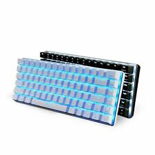 Ajazz AK33 Metal Suspended Backlit Gaming Mechanical Keyboard Blue Black Switch
