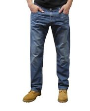 514 LEVIS SLIM STRAIGHT LEG Blue DENIM SITS BELOW WAIST COTTON JEANS MEN