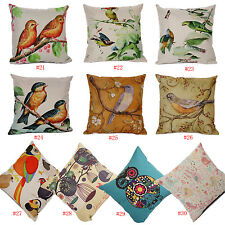 Cotton Linen Retro Hoopoe Birds Eagle Birds Nest